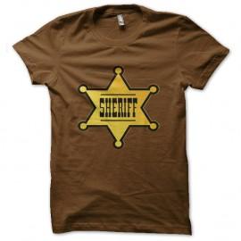 Shirt Etoile de Sheriff marron pour homme et femme