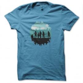 Shirt walking dead saison 5 turquoise pour homme et femme
