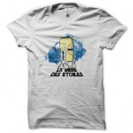 Shirt la bière des étoiles blanc pour homme et femme