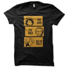 Shirt one piece parodie film le bon la brute et le truand noir pour homme et femme