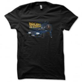 Shirt back to the futur police box noir pour homme et femme