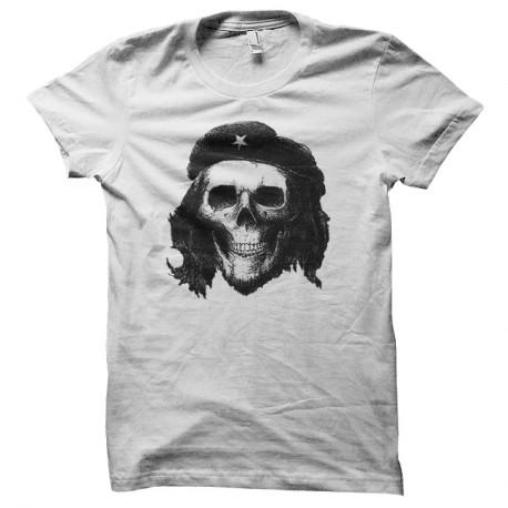 Shirt che guevara skull blanc pour homme et femme