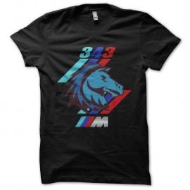 Shirt M 343 Horses Power noir pour homme et femme