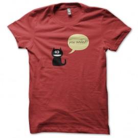 Shirt you smiled rouge pour homme et femme