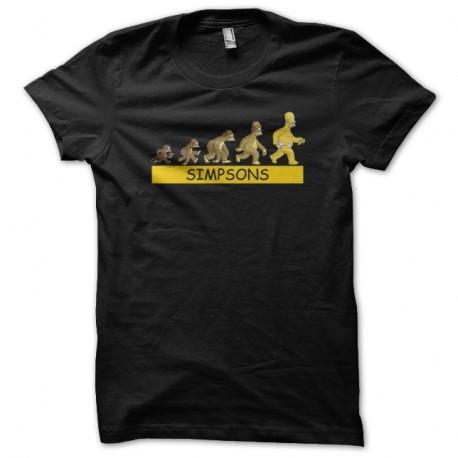 Shirt evolution homer simpsons noir pour homme et femme
