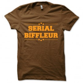 Shirt serial biffeur marron pour homme et femme
