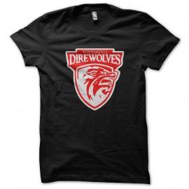 Shirt winterfell direwolves noir pour homme et femme