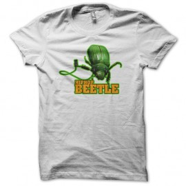 Shirt hiphop beetle blanc pour homme et femme