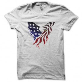 Shirt Eagle American Flag blanc pour homme et femme