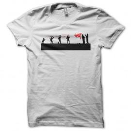 Shirt evolution tag blanc pour homme et femme