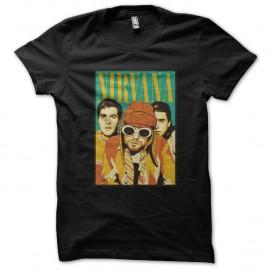 Shirt Nirvana poster noir pour homme et femme