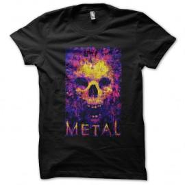 Shirt metal noir pour homme et femme