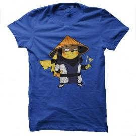 Shirt pikachu en mode raiden bleu pour homme et femme