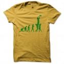 Shirt rugby evolution jaune pour homme et femme