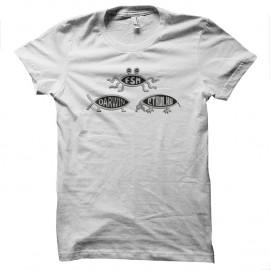 Shirt darwin cthulhu blanc pour homme et femme