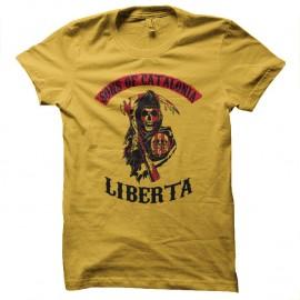 Shirts Sons of catalonia parodie SOA jaune pour homme et femme