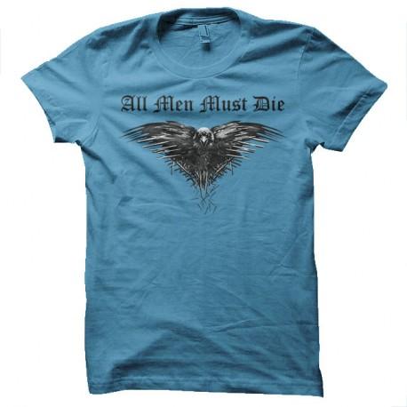 Shirt Game of thrones all mens must die tres rare bleu ciel pour homme et femme
