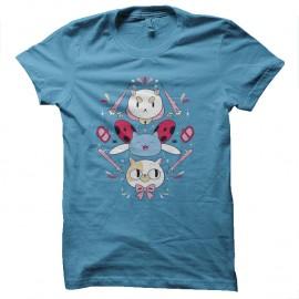 Shirt la revanche des chats turquoise pour homme et femme