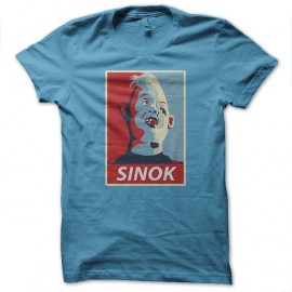 Shirt sinok parodie obama bleu ciel pour homme et femme