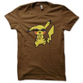 Shirt pikachu danse le gangnam style marron pour homme et femme