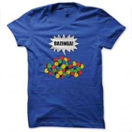 Shirt bazinga gum bleu royal pour homme et femme