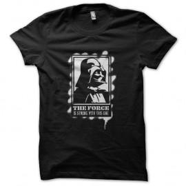 Shirt Dark Vador force is strong pochoir noir pour homme et femme