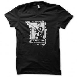 Shirt Luke Skywalker jedi pochoir noir pour homme et femme