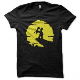 Shirt Les simpsons Homer et Bart parodie le roi lion noir pour homme et femme