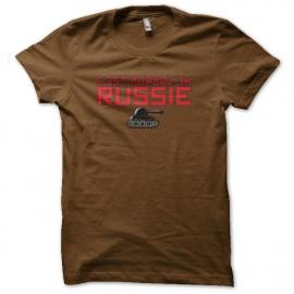 Shirt c'est normal en russie marron pour homme et femme