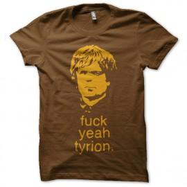 Shirt fuck yeah tyrion marron pour homme et femme