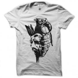 Shirt Shirt vision de la guerre artistique blanc pour homme et femme