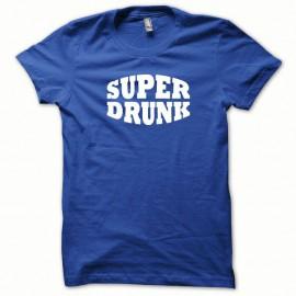 Shirt Super Drunk blanc/bleu royal pour homme et femme
