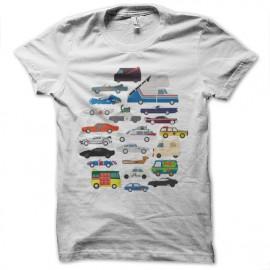 Shirt Pop Culture Cars blanc pour homme et femme