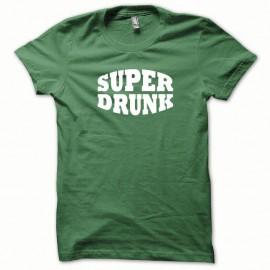 Shirt Super Drunk blanc/vert bouteille pour homme et femme