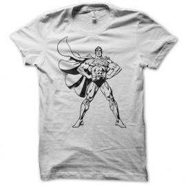 Shirt superman version comics blanc pour homme et femme
