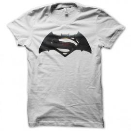 Shirt batman fusion superman blanc pour homme et femme