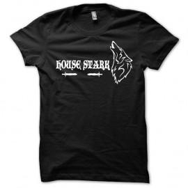 Shirt Le Trône de fer version loup Game of thrones blanc/noir pour homme et femme