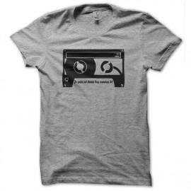 Shirt cassette années 80 gris pour homme et femme