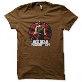 Shirt red dead redemption marron pour homme et femme