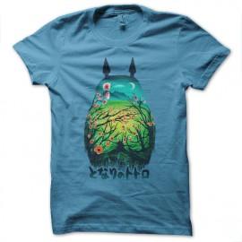 Shirt Totoro artistique bleu ciel pour homme et femme