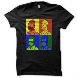 Shirt homer simpson pop art noir pour homme et femme