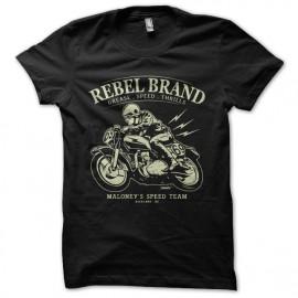 Shirt Rebel brand noir pour homme et femme