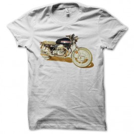 Shirt motorcycle vintage blanc pour homme et femme