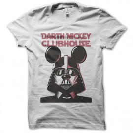 Shirt Darth mickey club house blanc pour homme et femme