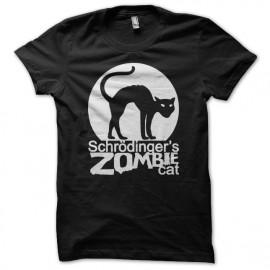 Shirt schrodinger zombie cat noir pour homme et femme