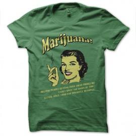 Shirt Marijuana vert pour homme et femme