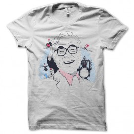 Shirt hayao miyazaki blanc pour homme et femme