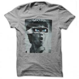 Shirt bruce lee lunettes 3d gris pour homme et femme