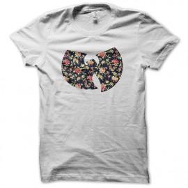 Shirt wu tang clan logo fleur tendance blanc pour homme et femme