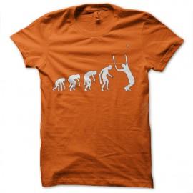 Shirt tennis evolution orange pour homme et femme
